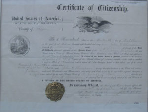 Picture of citizenship document
